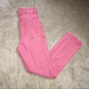 Vintage 90s Wyler II red high waisted mom jeans